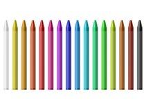 La cera ha colorato le matite royalty illustrazione gratis