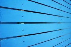 La cerca azul Imágenes de archivo libres de regalías
