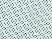 La cerca de Chainlink Industrial Texture, crea una ilusión óptica fotos de archivo