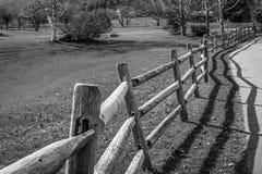 La cerca de madera Imagenes de archivo
