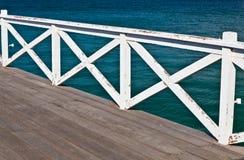 La cerca de madera blanca Imagen de archivo