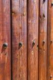La cerca de madera detalla forma de los colores Imagen de archivo