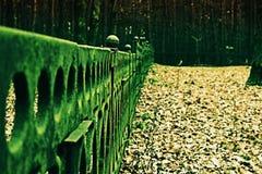 La cerca en el monumento fotografía de archivo