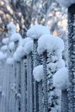 La cerca en helada Fotos de archivo libres de regalías