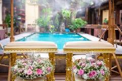 La ceremonia de boda tailandesa adorna el sistema Fotos de archivo libres de regalías