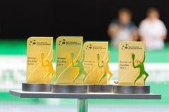 La ceremonia de entrega de los premios doble en Zurich abre 2012 Foto de archivo libre de regalías