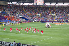 La ceremonia de inauguración del euro 2012 en Kharkiv Foto de archivo libre de regalías