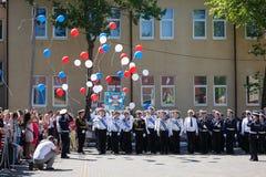 La ceremonia militar en el cuerpo del cadete del mar, Rusia Fotos de archivo libres de regalías