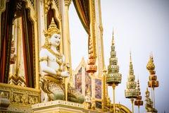La ceremonia real de la cremación de su rey Bhumibol Adulyadej de la majestad a abrirse en el público en Sanam Luang Bangkok Fotos de archivo