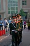 La cerimonia cinese della bandiera nazionale Immagine Stock Libera da Diritti