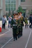 La cerimonia cinese della bandiera nazionale Fotografia Stock Libera da Diritti