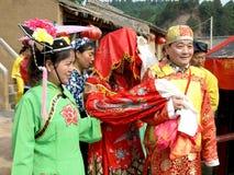 La cerimonia di cerimonia nuziale la sposa e lo sposo Fotografie Stock Libere da Diritti