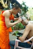 La cerimonia di classificazione del programma 2019 di classificazione a Wat Phra Kaew Chiang Rai fotografie stock libere da diritti