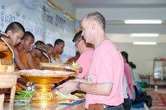 La cerimonia di Kathine inoltre veste la cerimonia d'offerta Immagini Stock Libere da Diritti