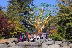La cerimonia dorata dell'albero Fotografia Stock
