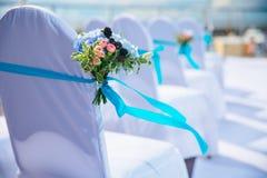 La cerimonia nuziale fiorisce il mazzo nuziale Decorazione di fioritura romantica, decorat Immagini Stock Libere da Diritti
