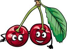La cerise drôle porte des fruits illustration de bande dessinée Image stock