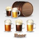 La cerveza fijó 2 Fotografía de archivo libre de regalías