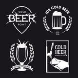 La cerveza relacionó el sistema de la tipografía Ejemplo de las letras del vintage del vector Imagen de archivo