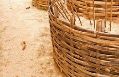 La cesta completada de la arena Foto de archivo libre de regalías