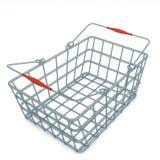 La cesta de compras del chome del metal rinde Foto de archivo libre de regalías