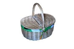 La cesta de mimbre de la comida campestre Imagen de archivo