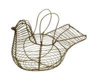 La cesta del huevo del pollo dirige para arriba Fotografía de archivo libre de regalías