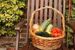 La cesta del Veggie Foto de archivo