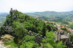 La Cesta fortless on Borgo Maggiore, San Marino Stock Photography