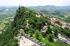 La Cesta fortless on Borgo Maggiore, San Marino Stock Images