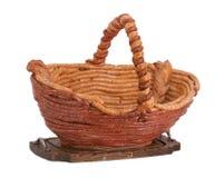 La cesta hizo la salchicha del ââfrom Foto de archivo libre de regalías