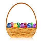 La cesta profesional de Pascua Eggs el ejemplo Imagen de archivo