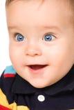 La chéri aux yeux bleus, plan rapproché. image libre de droits