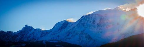 La chaîne du Mont Blanc Royalty Free Stock Images