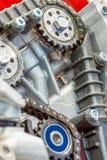 La cha?ne de la synchronisation d'entra?nement du moteur ? combustion interne photos stock