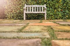 La chaise dans le jardin et le matin s'allument photos libres de droits
