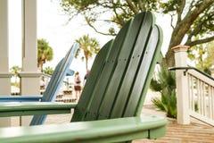 La chaise de plage Photographie stock libre de droits