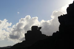 La chaise et le ciel de Pele photographie stock libre de droits