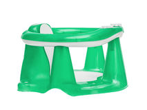 La chaise verte des enfants pour se baigner Photographie stock libre de droits