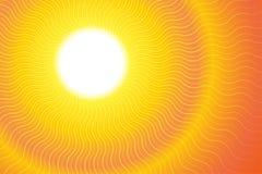La chaleur chaude Ray Background de rayon de soleil Image libre de droits