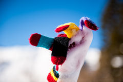 La chaleur colorée et congelée de main photo libre de droits