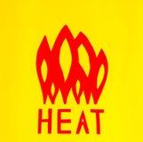 La chaleur de inscription avec des flammes illustration de vecteur