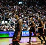 La chaleur de Miami contre des rapaces de Toronto Image libre de droits
