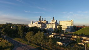 La chaleur et centrale en Russie, vue aérienne banque de vidéos