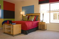 La chambre à coucher de l'adolescent Photographie stock libre de droits