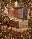 La chambre à coucher de la beauté illustration de vecteur