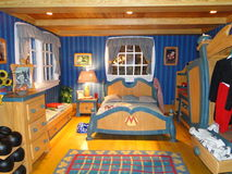 La chambre à coucher de Mickey dans Disneyworld Photographie stock libre de droits