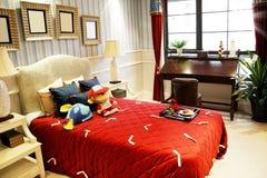 La chambre à coucher de petite fille photo libre de droits