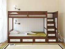 La chambre à coucher des enfants Photo libre de droits