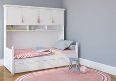 La chambre à coucher des enfants Image libre de droits
